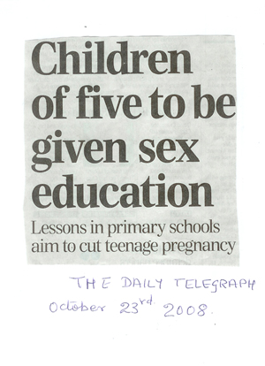 Newspaper article, knowledge of divine love and healling prevents teenage pregnancieses